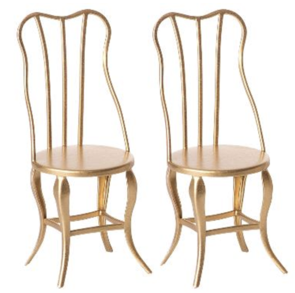 MAILEG Vintage Stühle Micro  - Gold - Set of 2