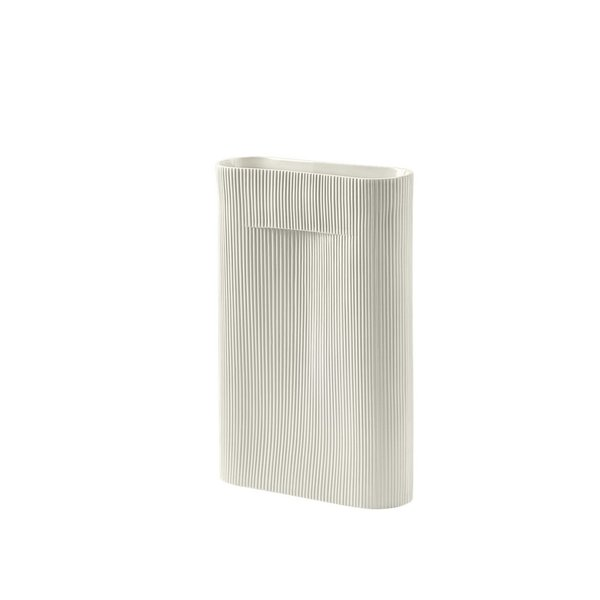 MUUTO Ridge Vase small off white