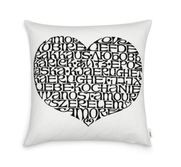 VITRA Graphic Print Pillows - International Love Heart